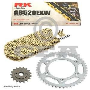 Ensemble chaine Suzuki Rm 12588-91, chaîne RK Go 520EXW 114, ouvert, or, 13/51