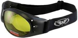 Global Vision Eliminator Motorcycle Goggles (Black Frame/Yellow Lens) by Global Vision Eyewear