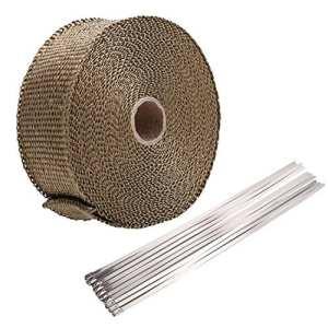 Homedox Bande Thermique Echappement 10m Ruban Isolant Thermique Céramique 10M