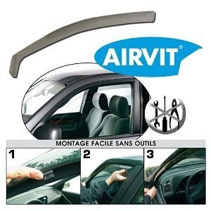 Jeu de 2 déflecteurs avant (1 droit et 1 gauche) pour Renault Clio iv 2012> AIRVIT 201105