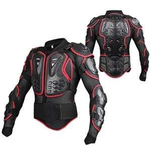 linsone Rouge/Noir Unisexe Body Armour de motocross de moto VTT Cyclisme Patinage Snowboard dos Poitrine Côtes Coude Protection Bionic pour Femme