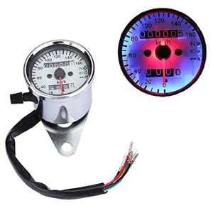 Moto universel double Compteur de vitesse Odomètre Jauge LED Neutre TOUR Signal lumière rétroéclairage