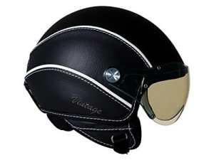 Nexx SX60 Vintage Open Face Helmet (X-Large, Soft Black) by Nexx