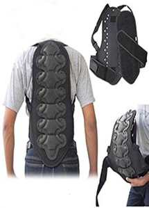 Coque dorsale ski/snowboard/moto – protection colonne vertébrale – Noir – L