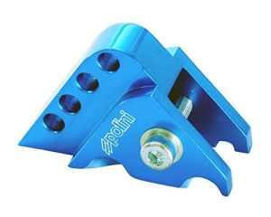 POLINI rehausse CNC 4trous bleu pour Yamaha Axis 50, Breeze 50, BWS 1002T, Jog 50
