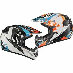 Shox MX-1 Paradox Motocross Helmet L Black Blue Orange