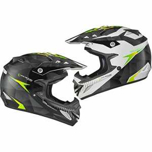 Shox MX-1 Shadow Motocross Helmet S Black White Green