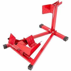 TecTake Béquille d'atelier roue avant leve moto lift de stand motocyclette universal – pour diamètre de roue : 17″ -21″