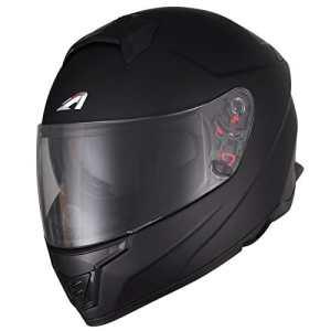 Astone Helmets Casque Moto Intégral Fibre GT1000FM, Noir Mat, Taille L