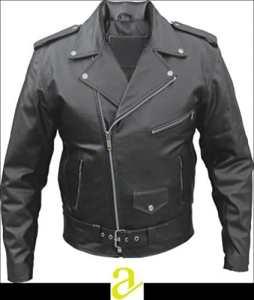 ATL Perfecto Brando Blouson de moto matelassé en 100% cuir de vachette de récupération, tailles de S à 8 XL