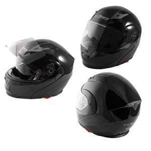 Casque Modulable Moto Homologation Visière Pare Soleil Noir S