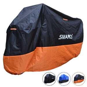 SMARCY® Housse de Protection pour Moto (XXXL / Orange et Noir)