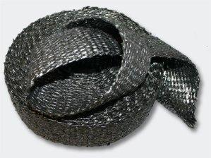50mm Ruban isolant thermique tissu graphite 10m
