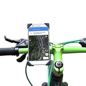 COOWOO Support Vélo du Guidon Support Universel Téléphone Rotatif à 360 Bracelet en Caoutchouc Taille Réglable Compatible