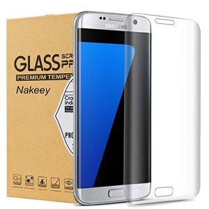 Samsung Galaxy S7 Edge Protection d' Écran, Nakeey Film de 3D Incurvé Protection d' Écran en Verre Trempé pour Galaxy S7 Edge Protecteur Transparents Ultra Clear HD Anti-casse Anti-rayures