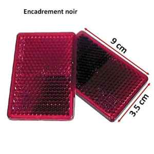 2 CATADIOPTRES RECTANGULAIRE ROUGE