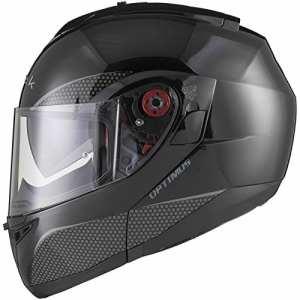 Black Optimus SV Flip Front Motorcycle Helmet M Gloss Black