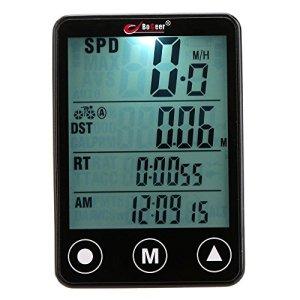 Docooler Multifonction Vitesse de Vélo Sans Fil Bouton Tactile LED Ordinateur de Vélo Odomètre Compteur de Vitesse