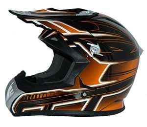 Protectwear casque de moto, casque de Cross, casque Enduro, orange-noir, FS603-OR, Taille: S