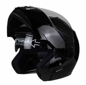 Woljay Casque Modulable Pare Soleil Interne Moto Scooter (M, Noir)