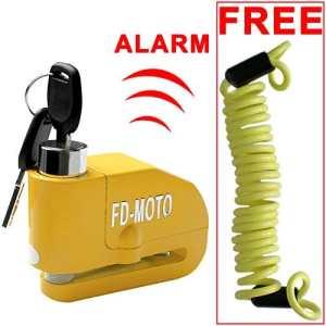FD-MOTO LK603 Verrouillage de disque d'alarme Verrouillage de disque de vélo moto ALARM + Câble de rappel gratuit