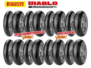 Pack de 8 Trains de Pneus Diablo Supercorsa Sc V1 (8X120/70Zr17 + 4X18