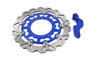 320mm avant ondulé Disque de frein flottant Plus Support pour Yamaha Yzf250yzf450Supermotard Bleu