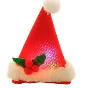 Dikewang Décorations de Noël de Noël Bonnet pour enfant cartons NE pas clair Pince à cheveux pour fille 1pièce Pince à cheveux Accessoires Cheveux Coiffe rouge Red B