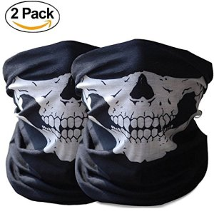 Goodbuy Multifonction Bandana Face Shield, 2 pièces Skull Mask masque pour Moto Motard Snowboard Skiing Paintball