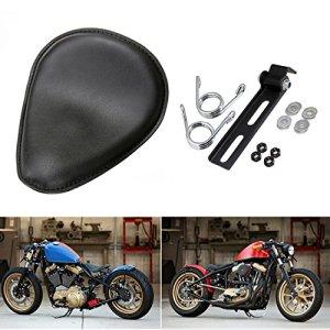 LEAGUE&CO Moto Selle Solo Siège Softail Cuir +3.5 » Ressorts Support Kit pour Harley Honda Suzuki Yamaha
