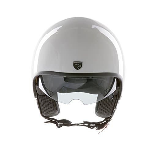 Panthera casque moto full jet Vintage blanc brillant taille S