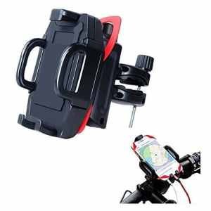 Support Vélo du Guidon en Matériaude haute Résistance ABS 360 Retation, Imperméable Antichoc Antidérapage pour variété de téléphones 3.5-6.0 pouces, Smartphone GPS(Noir)