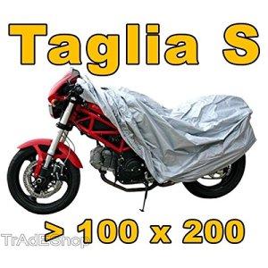 Trade shop–Serviette Coque Housse de Moto Scooter Vélo polyéthylène argent taille s 100x 200
