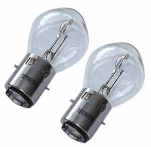 Aerzetix: 2x ampoules B35 BA20D 12V 35/35W pour moto scooter C18861