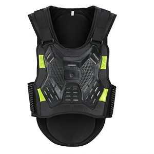 Pellor Veste Protection Armure Plastron Protecteur Le Dos et La Poitrine Pour Moto Vélo Ski cyclisme (M)