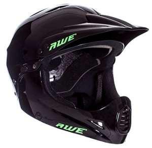 AWE® BMX Casque complet Noir L 58–62cm