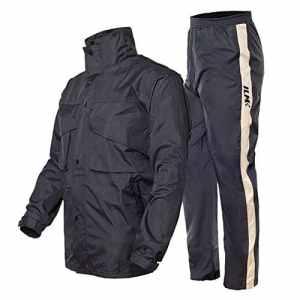 ILM Moto Combinaison de pluie pour pluie Gear 2pièces avec veste et pantalon pour homme et femme