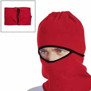 sourcingmap® Coupe vent rouge masque visage Capuchon protège cou Couvercle pour vélo moto sport