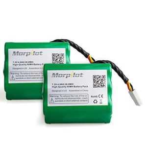Morpilot 2 Batteries 4000mAh pour Neato XV-11 XV-12 XV-14 XV-15 XV-21 XV-25 Aspirateur Neato Robotics 205-0001, 945-0004, 945-0005, 945-0006, 945-0024, 945-0065 – Haute capacité Longue durée