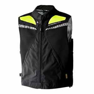 motoairbag Gilet airbag arrière et frontale, noir/fluo, Taille XXL/XXXL