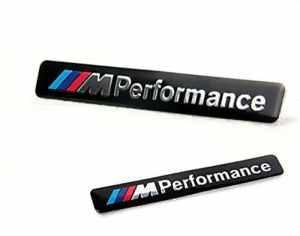 ADATECH Emblème de logo m Performance pour BMW E36 E39 E46 E30 E60 E92 Noir 3D métalliques