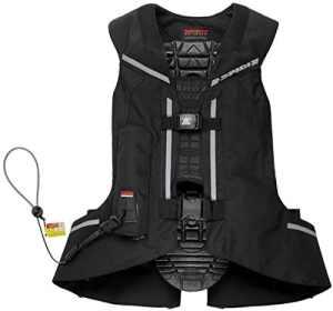 Airbag moto Spidi Full DPS VEST avec mécanisme d'activation Câble en keramide L noir