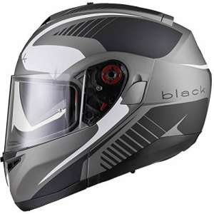 Black Optimus SV Tour Flip Front Motorcycle Helmet XL Matt Black White