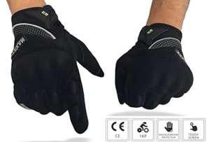 Gants Moto et Scooter Homologués MAXAX – Gant Tactile Homologué 1KP selon La Norme Européenne CE – Confortable et de Qualité – Unisexe et Mi-saison – Taille M L XL