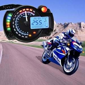 KKmoon LCD Testeur numérique tachymètre compteur universel pour moto
