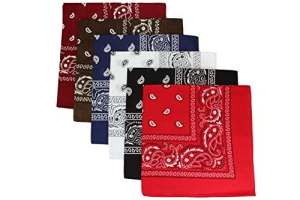 Lot 6 Bandanas mixé dans 6 couleur differentes | Triage 1
