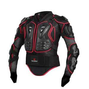 Professionnel Body Armour Motocross Moto VTT Cyclisme Patinage Snowboard dos Protection Populaire pour femme (Red-M)