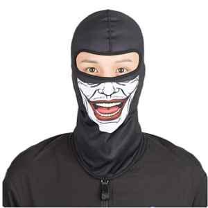 Cagoule Masque de ski–Fonte Power coupe-vent la poussière protection Outdoor–Moto Vélo multifonction visage masque tactique protection UV atmungs Balaclava capot visage, F