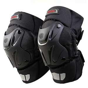 Crazy AL de® CAK genou protection moto Motocross Racing Genouillères Coussinets Bretelles équipement de protection Noir