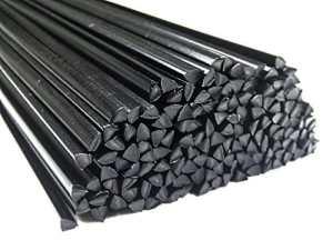 Plastique baguettes de soudure ABS Noir 6mm Triangulaire 25 Barres